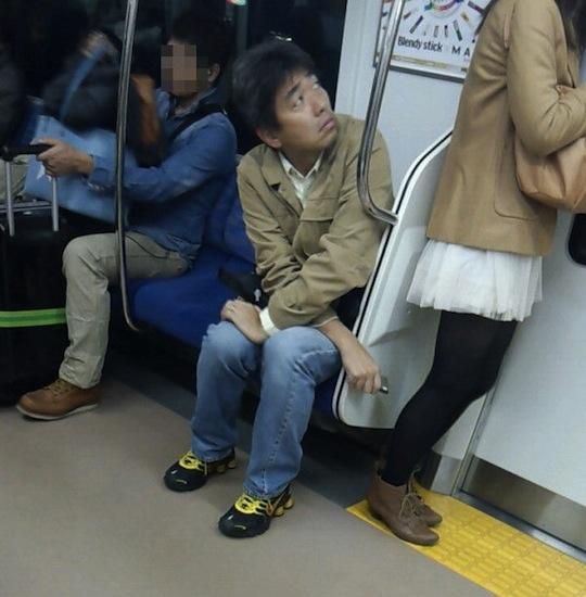 Japa flagrado no trem