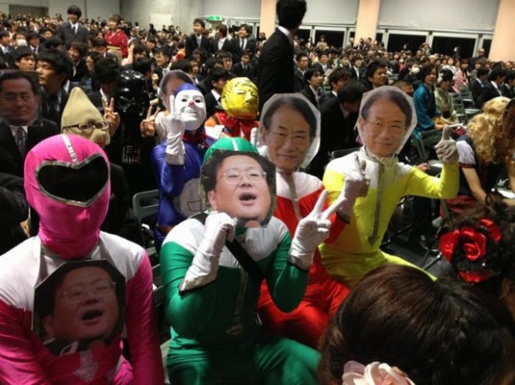 cerimônia de formatura no Japão