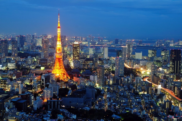 Tokyo and tokyo tower
