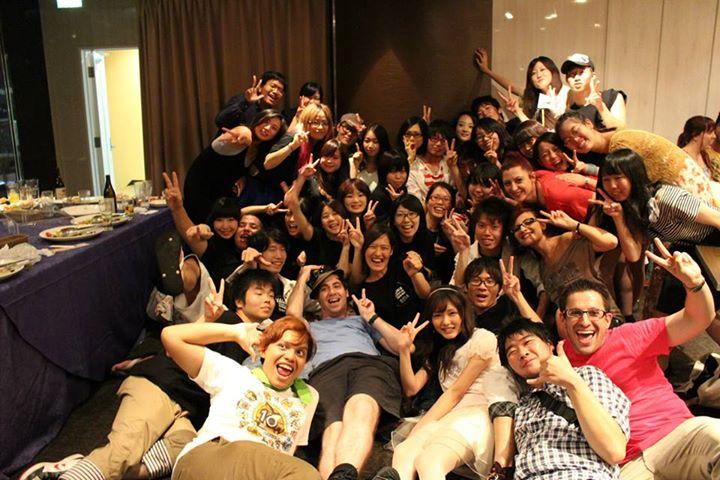 Omotenashi team e a galera que entrou na foto HU3
