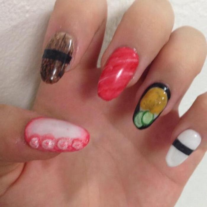 Sushi nail art 02
