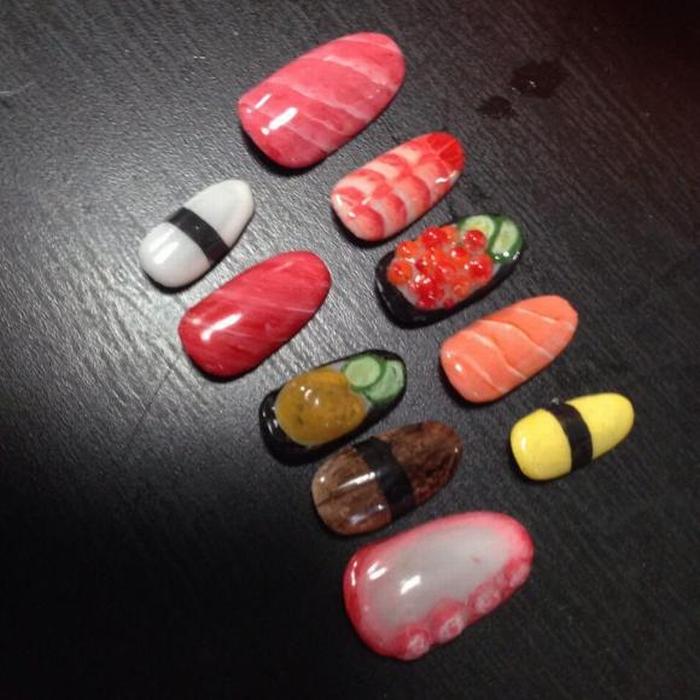 Sushi nail art 03